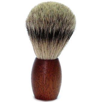Oro pennello da barba con Badger spennare capelli, manico in legno di cedro