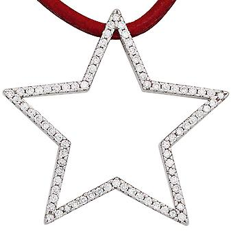 Pendants silver pendant star 925 sterling silver rhodium plated with cubic zirconia