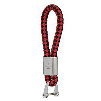 Ciondoli chiave skipper in pelle nero/rosso 7290