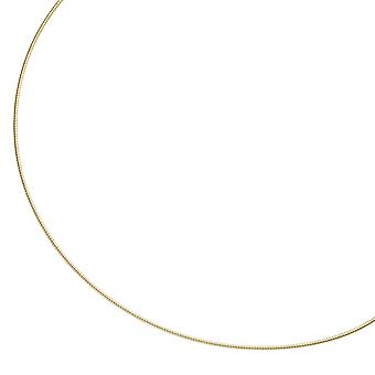 Necklace 925 sterling silver gold gold plated 1.1 mm 45 cm chain necklace