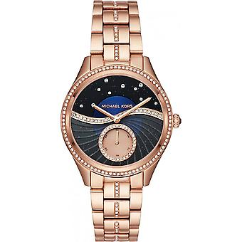Michael Kors Watches Mk3723 Lauryn Rose Gold & Black Ladies Watch