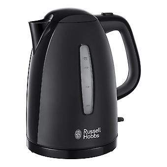 Russell Hobbs 21271 Textures 1.7L 3000kW Black Plastic Cordless Electric Kettle