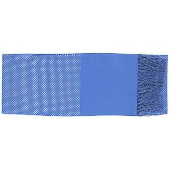 Michelsons of London Pin Dot Seidenschal - Ice Blue
