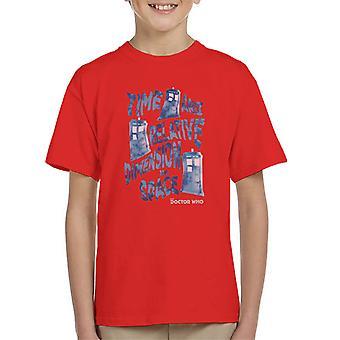 Doctor Who Warped Tardis Kid's T-Shirt