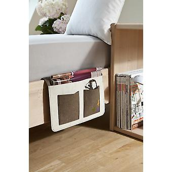 Bed Butler sofa of Butler Butler of sofa sofa tray Brown/off-white armrest Organizer sofa tray