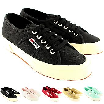 Womens Superga 2750 Cotu Classic Plimsoll Lace Up Canvas Casual Trainers
