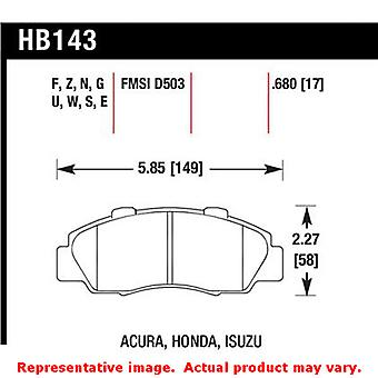 Hawk HT (High Temp) Brake Pads HB143S.680 Fits:ACURA 1997 - 1999 CL V6 3.0 Posi