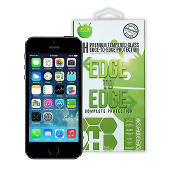 Preto Premium temperado vidro para iPhone 5 / 5C/5S/SE