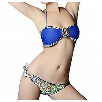 Waooh - Mode - Bikini bandeau motif cachemire et verroteries