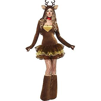 Fever Reindeer Costume, UK Dress 8-10