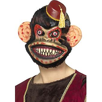 Zombie Toy Monkey Mask, Brown, EVA, with Fur