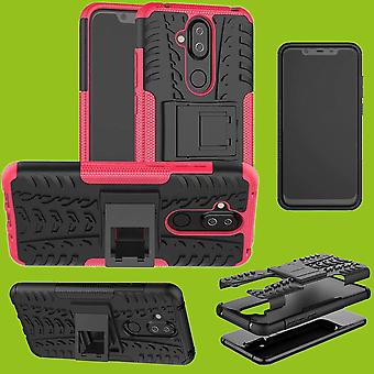 For Nokia 8.1 2018 (X 7) 6.18 inch hybrid case 2 piece SWL outdoor pink accessories bag case cover protection