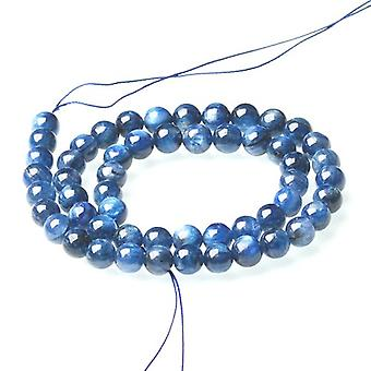 Onderdeel van 48 + blauwe kyaniet 7-8mm platte ronde kralen CB50996-3