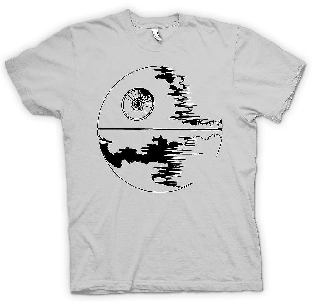 Herr T-shirt-Death Star Under uppbyggnad