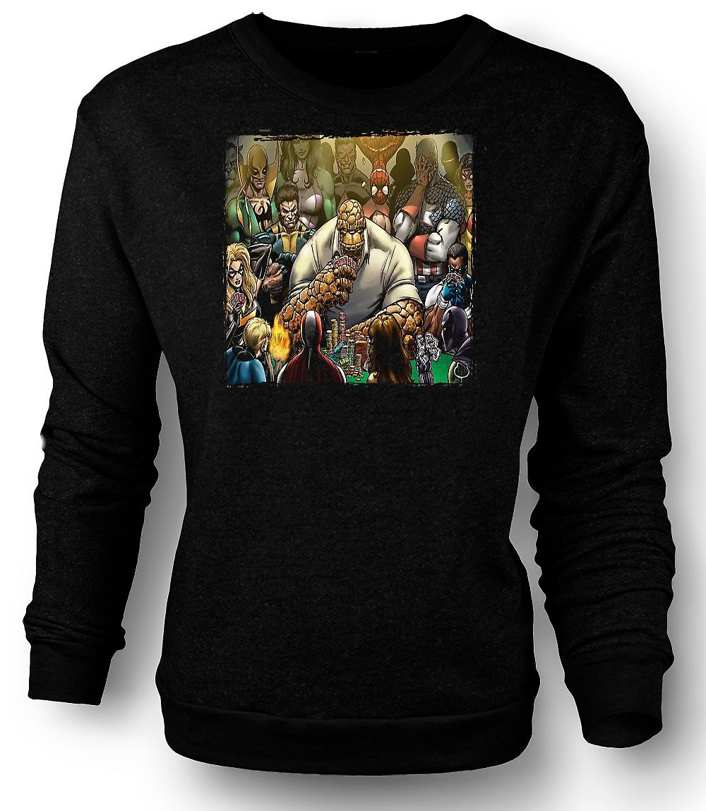 Mens Sweatshirt Poker Game Thing - Funny