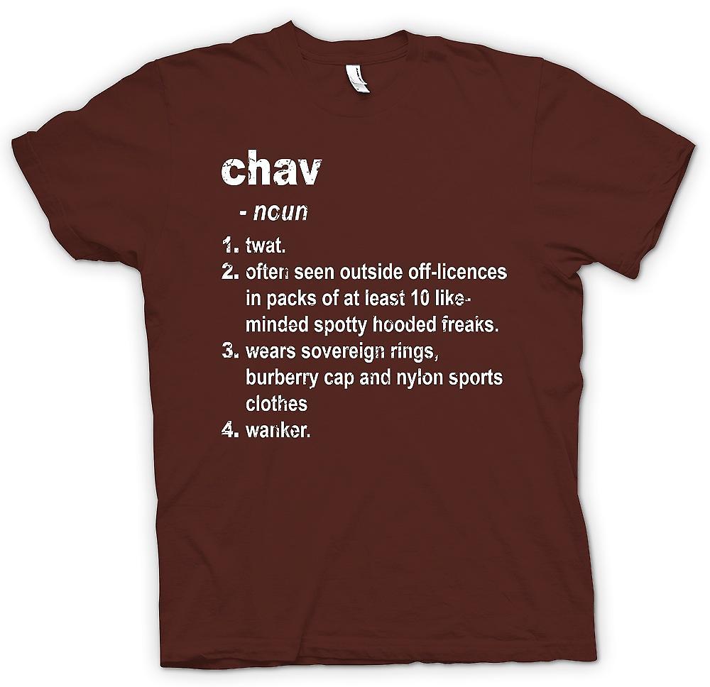 Mens T-shirt - Chav Defination - Brilliantly Funny Dictionary