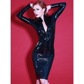 Skin Two Clothing Women's Pencil Skirt Sexy Sophisticated Outfit Latex Rubber