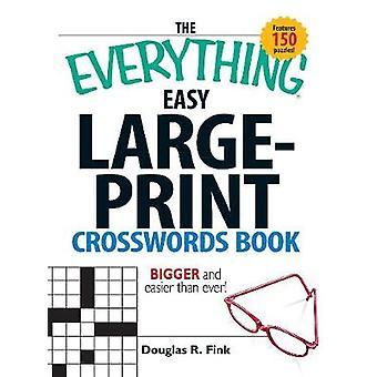 Allt lätt Large-Print korsord boken (stora typ edition)