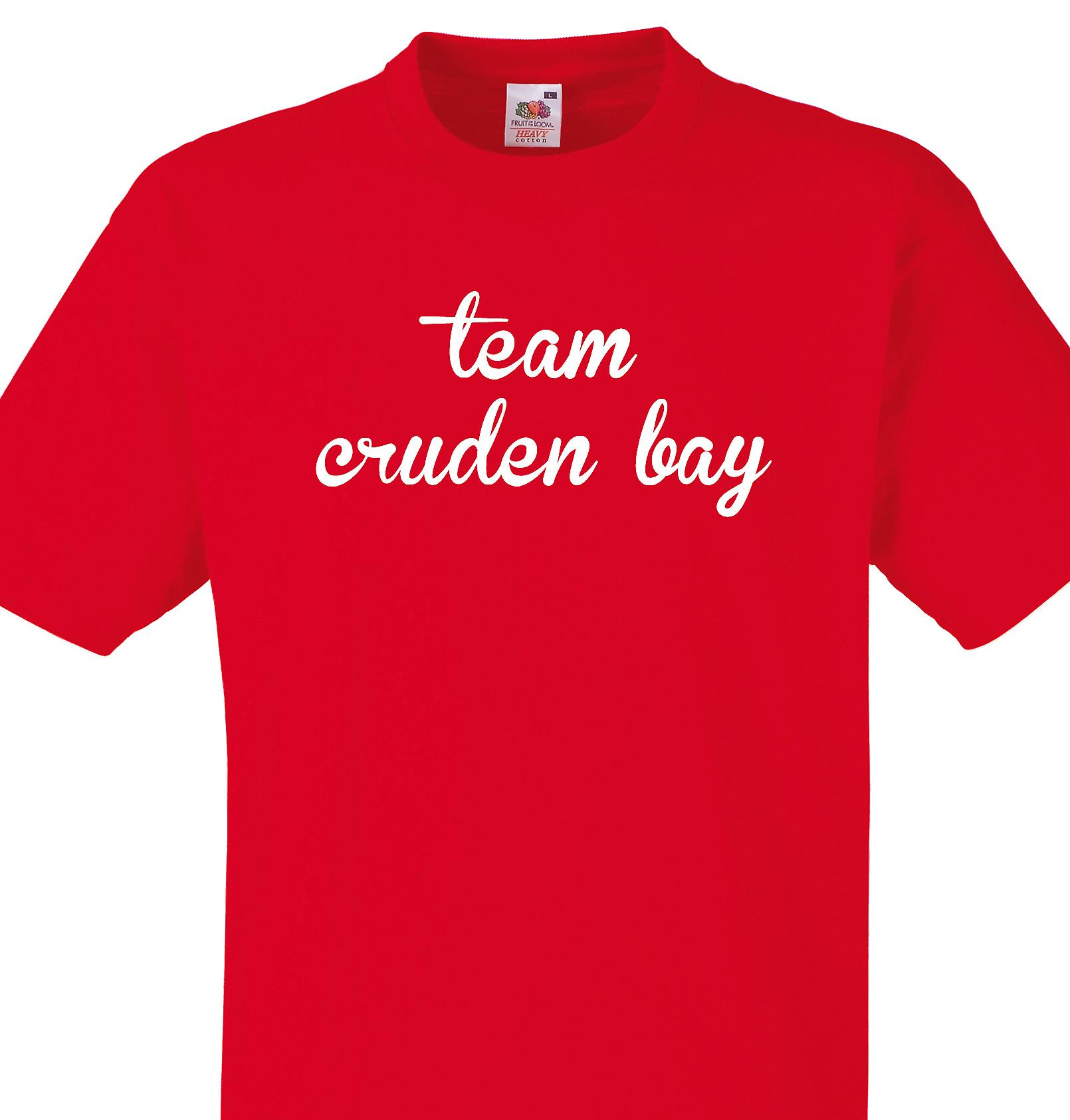 Team Cruden bay Red T shirt