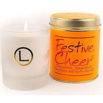 Lily Flame Scented Glassware Candle - Festive Cheer
