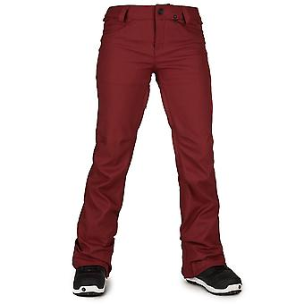 Volcom Burnt Red Species Stretch Womens Snowboarding Pants