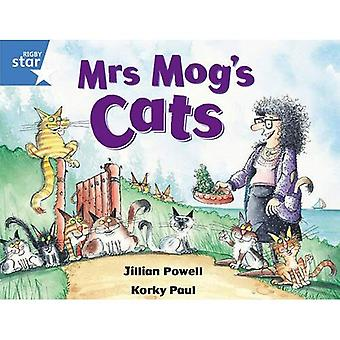 Rigby Star Guided 1 Blue Level: Mrs Mog's Cats Pupil Book
