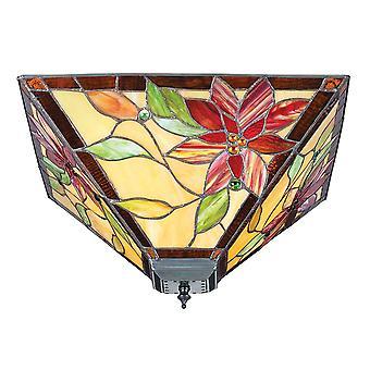 Lelani Medium Tiffany Style léger deux Flush plafonnier - Interiors 70718 1900