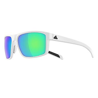 Adidas a423 6062 White Whipstart Rectangle Sunglasses Lens Category 3 Lens Mirrored Size 61mm