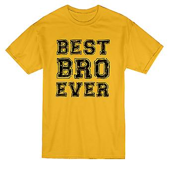Best Bro Ever Graphic Men's Gold T-shirt