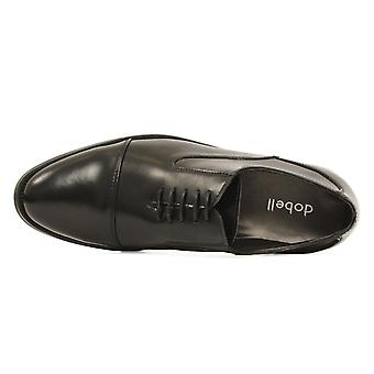 Dobell Mens Black Oxford Shoes Leather