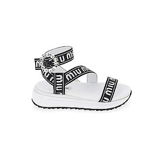 Miu Miu White Cotton Sandals