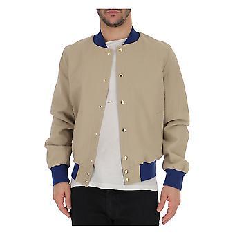Maison Kitsuné Beige Cotton Outerwear Jacket