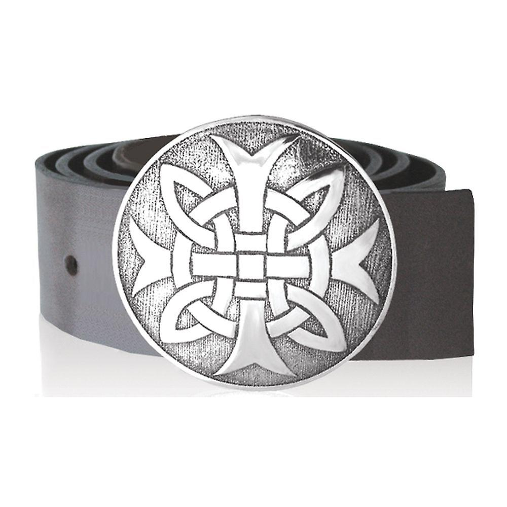 Kilt Buckle Pewter 88Mm Diameter - Bb013