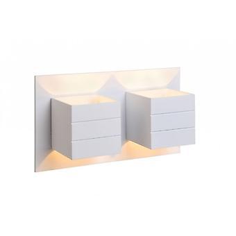 Lucide Bok Modern Rectangle Aluminum White Wall Light