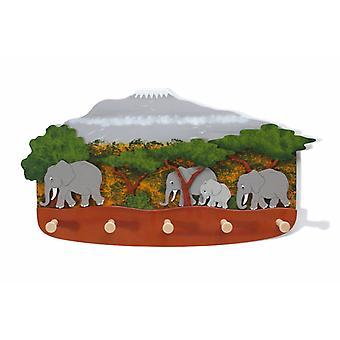 Weizenkorn Coat Rack Elephants
