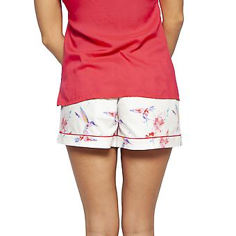Cyberjammies 4204 Women's Evie Ivory Off-White Hummingbird Print Cotton Pyjama Short