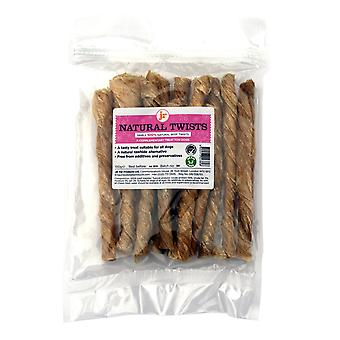 Natural Beef Twists Natural Dog Treats 100g Pack