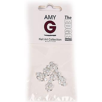 The Edge Nails Amy G - 3D Nail Art Nail Jewels - Wedding Crystal (6 PCS) (3003047)