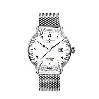Zeppelin Watches 7046M-1-men's wristwatch, stainless steel