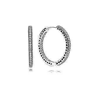 Pendientes de aro de mujer de plata Pandora - 296319CZ