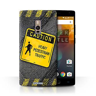 STUFF4 Case/Cover for OnePlus 2/Two/Heavy Pedestrian/Funny Road Signs