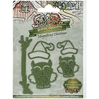 Find It Trading Yvonne Creations Magnificent Christmas Die-Christmas Owls