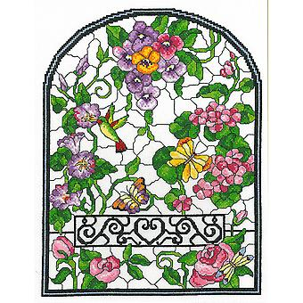 Summer Stained Glass Counted Cross Stitch Kit-10
