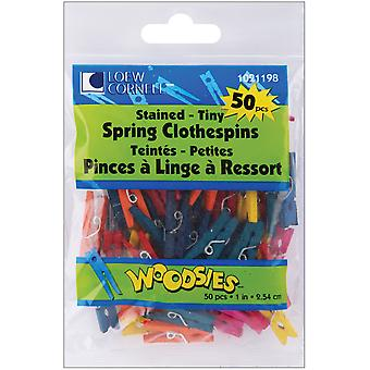 Woodsies Tiny Spring Clothespins Assorted Colors 1