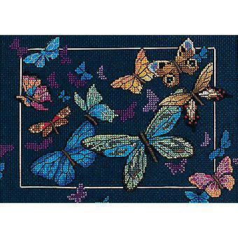 Gold Collection Petite Exotic Butterflies Counted Cross Stit 7