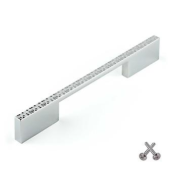 Furniture handle - Chrome disco effect. Zinc alloy construction. Fixing screws included.