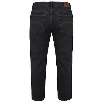 BadRhino Black Stonewash Denim Straight Leg Jeans - TALL