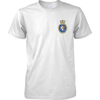 HMS Unicorn - ausgemusterte Schiff der königlichen Marine T-Shirt Farbe