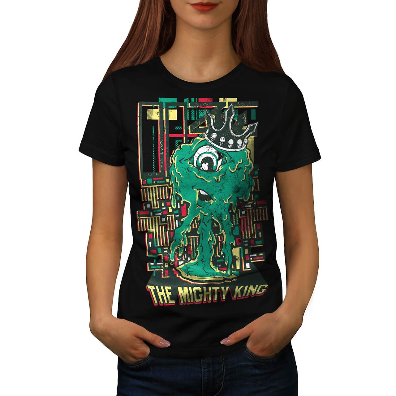 King Monster Cute Horror Women Black T-shirt | Wellcoda