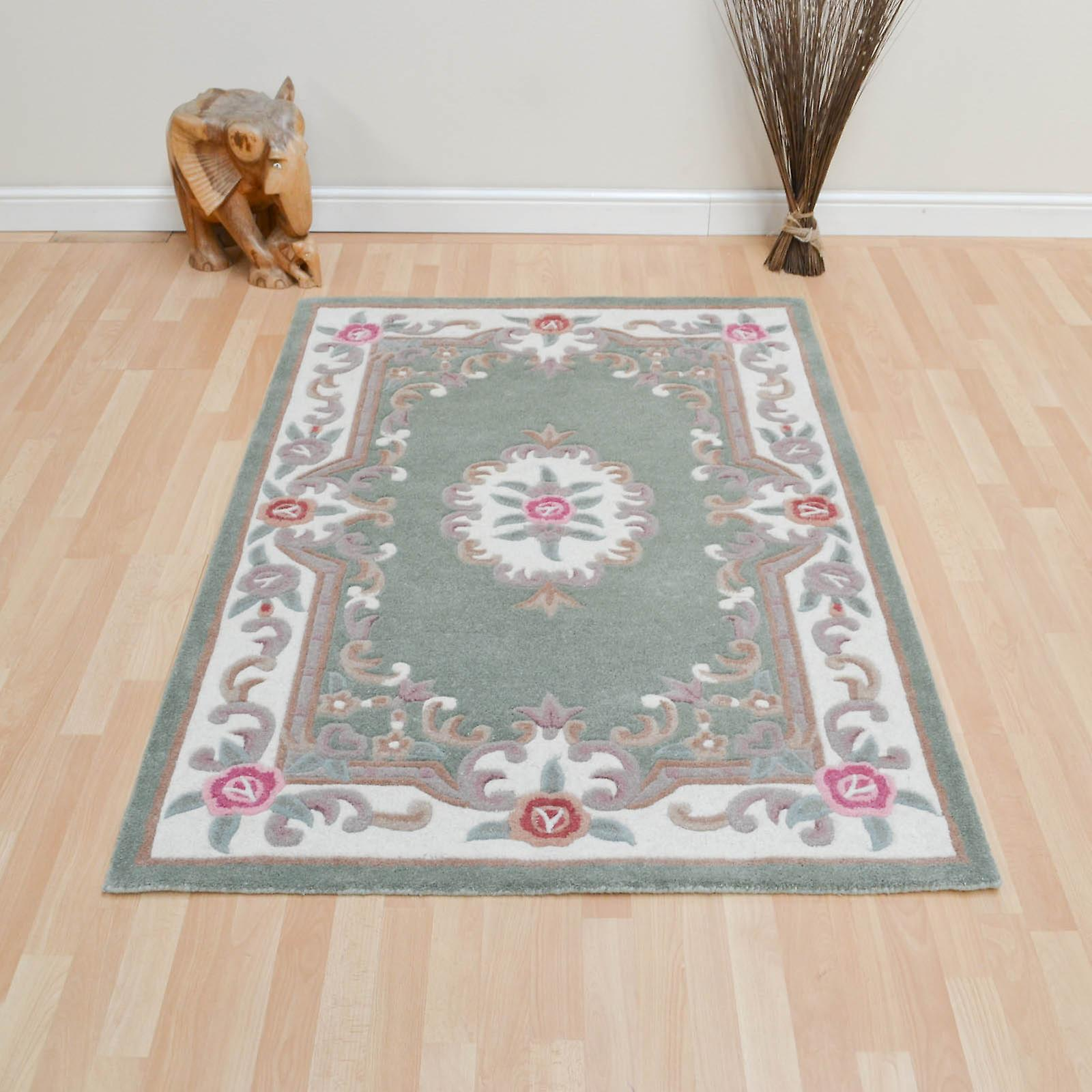 Chinese Rugs - 510 Aubusson Full Cut In Green